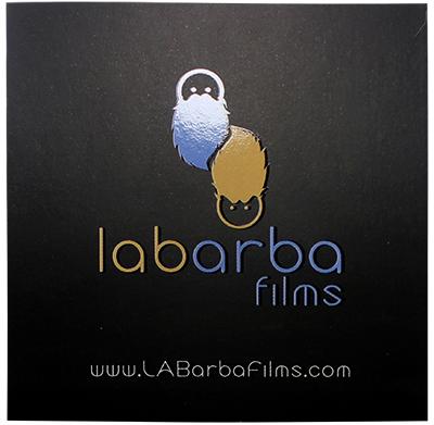 modelo de tarjeta de presentacion en sectorizado UV de labarba films3