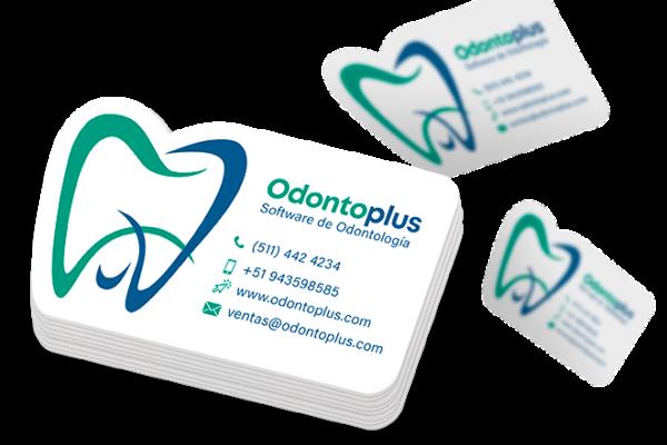 modelo de tarjeta de presentacion en troquelado de odontoplus2